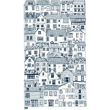 coastal cottages cotton tea towel by jessica hogarth designs