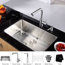 stainless steel kitchen sink combination kraususa com discontinued 30 inch undermount single bowl stainless steel kitchen sink with kitchen faucet and soap