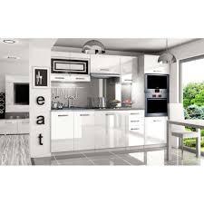 cuisine équipée blanc laqué justhome paula pro led cuisine équipée complète 240 cm couleur