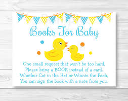 cute rubber duck book request cards rubber duck baby shower