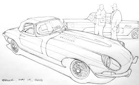 vintage corvette drawing caught in my headlights bruce thomson u0027s sketches