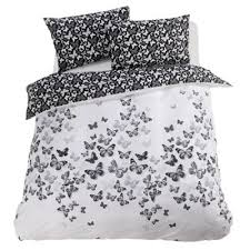 Tesco Bedding Duvet Buy Tesco Teenage Single Butterfly Duvet Cover Set White U0026 Black