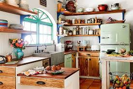 kitchen modern kitchen features rustic wooden open shelves also
