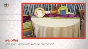 table linen rentals table linen rentals orlando bbj wedding event showroom