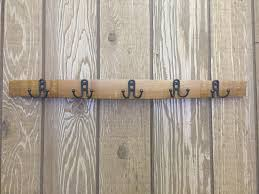stave coat rack with small double hooks u2013 live oak wine decor