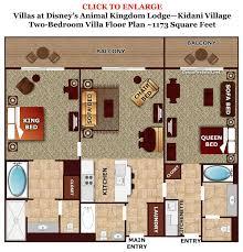 animal kingdom 2 bedroom villa floor plan review kidani village at disney s animal kingdom villas kidani