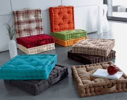floor sofa handmade tufted colorful fabric square floor seating cover for