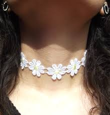 cute necklace chokers images Cute daisy chain lace choker kawaii kave online store powered JPG