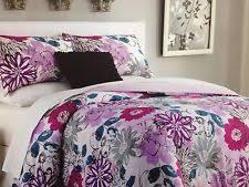 Purple Floral Comforter Set Cynthia Rowley Microfiber Comforters U0026 Bedding Sets Ebay