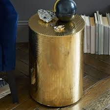 gold drum coffee table gold drum side table unbelievable coffee design within reach home
