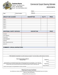 carpet cleaning estimate template mickeles spreadsheet sample