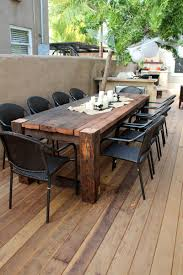 Outdoor Wood Decor Beautiful Wooden Table Favorite Places U0026 Spaces Pinterest