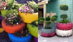 como hacer macetas con llantas recicladas paso a paso macetas recicladas plantas en neumáticos