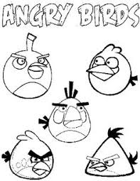 angry birds coloring pages free linky