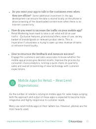 implementing mobile application on your retail store