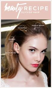 swept back hairstyles for women slicked back hair how to get the look stylecaster