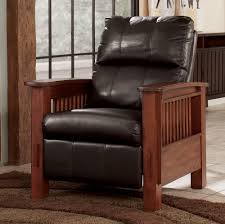 santa fe chocolate high leg recliner by signature design
