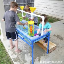 How To Make End Tables Taller by To Make A Pvc Pipe Sand And Water Table