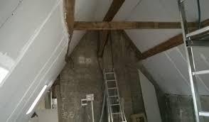 isolation plafond chambre tuto photo défi grenier comment plaquer et isoler un plafond