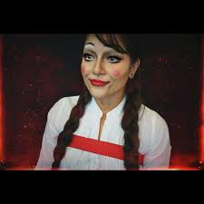 annabelle doll makeup tutorial youtube