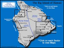 map of hawaii big island big island sector map owner direct vacation rentals