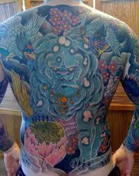 blue foo dogs breathtaking foo dog tattoos