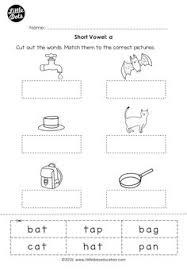 free short vowel u worksheet for preschool or kindergarten class