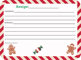 awesome collection of christmas recipe cards free templates