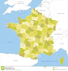 English Channel Map Highly Detailed Map Of French County Vector Stock Vector Image