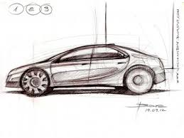 car side view sketch tutorial car body design