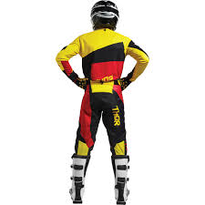 red dirt bike boots thor new mx 2017 spring pulse taper yellow red motocross dirt bike