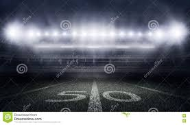 how tall are football stadium lights american football stadium in lights and flashes stock illustration