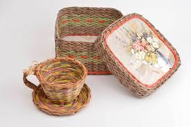 wicker home decor madeheart u003e newspaper tubes box paper box home decor wicker basket