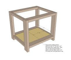 Simple Wooden Shelf Plans by Ana White Rustic X End Table Diy Projects