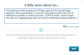 write me a dating site profile more like this