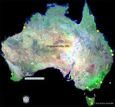 australia satellite map map australia