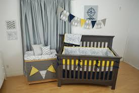 Gray And Yellow Crib Bedding Navy Chevron Crib Bedding Home Beds Decoration