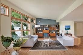 mid century modern living room rug interior design