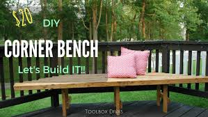 Plans For Making A Wooden Bench by How To Build A Diy Corner Bench For Your Deck Youtube