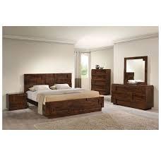 Zuo Modern San Diego Queen Bed Walnut DISC Modern - Contemporary furniture san diego