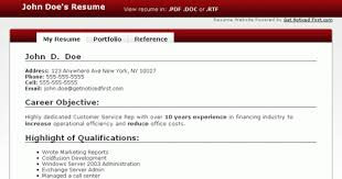 Resume Creator Free Online by Free Resume Creator Health Symptoms And Cure Com