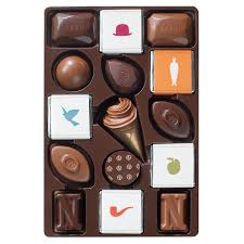 chocolate delivery neuhaus rené magritte tin 40 pieces demeersman luxury chocolate