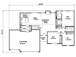 Floor Plans For Ranch Style Homes by Ranch Style House Plan 3 Beds 2 00 Baths 1418 Sq Ft Plan 22 469