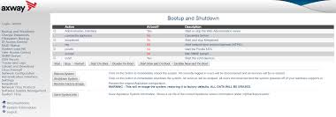 start and stop services reboot and shut down