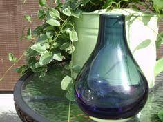 Dark Blue Glass Vase Vintage Cobalt Blue Glass Vase Blue Vase Vintage By Rd1vintage