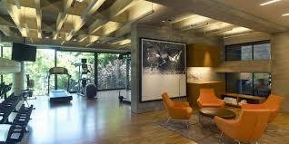wonderful beige wood glass iron cool design garage gym home ideas