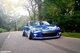 blue subaru gold rims subaru brz dakos3