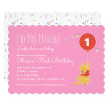 winnie the pooh invitations u0026 announcements zazzle