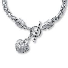 kay jewelers charmed memories kay diamond heart bracelet 1 8 ct tw round cut sterling silver