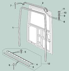 Exterior Door Seal Defender Rear End Door Seals Rovers Land Rover Parts And